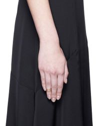 Sophie Bille Brahe - Metallic 'minor' Diamond 18k Yellow Gold Midi Ring - Lyst