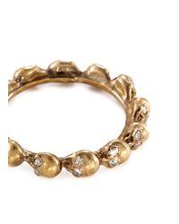 Delfina Delettrez - Metallic Diamond 18k Yellow Gold Skull Ring - Lyst