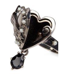 Alexander McQueen - Metallic 'heart Locket' Ring - Lyst