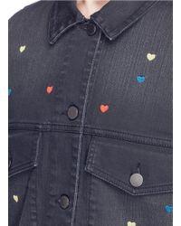 Stella McCartney - Blue Heart Embroidered Denim Jacket - Lyst