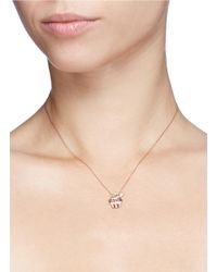 Bao Bao Wan - Metallic Diamond Rose Gold Cupcake Necklace - Lyst