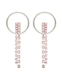 Joomi Lim - Pink 'mad Maximalism' Swarovski Crystal Fringe Hoop Earrings - Lyst