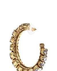 Erickson Beamon - Metallic Swarovski Crystal Hoop Earrings - Lyst