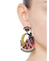 Elizabeth Cole - Multicolor 'fruit Salad' Swarovski Crystal Drop Earrings - Lyst