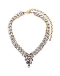 Erickson Beamon | White 'parlor Trick' 24k Gold Plated Swarovski Crystal Necklace | Lyst