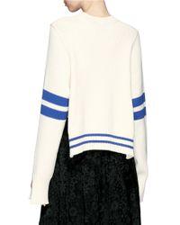 Mrz - White Stripe Sleeve Sweater - Lyst