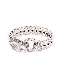 John Hardy - Metallic Silver Naga Weave Effect Link Chain Bracelet - Lyst