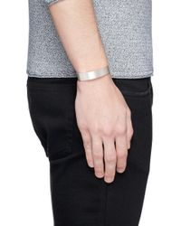 Le Gramme - White 'le 41 Grammes' Brushed Sterling Silver Cuff - Lyst