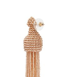Kenneth Jay Lane - Metallic Beaded Tassel Earrings - Lyst