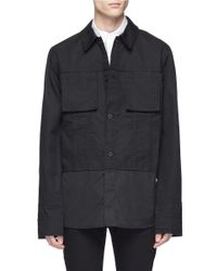 Helmut Lang - Black Cotton Canvas Shirt Jacket for Men - Lyst