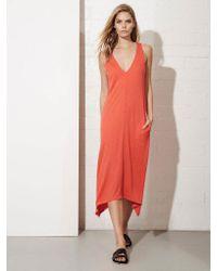 Lanston - Red V-neck Pocket Dress - Lyst