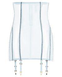La Perla | Blue Suspender Skirt With Straps | Lyst