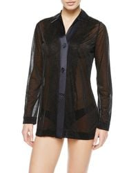 La Perla   Black Collared Shirt   Lyst