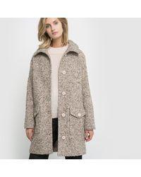 LA REDOUTE - Natural Bouclé Tweed Coat - Lyst