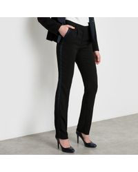 LA REDOUTE | Black Pantalon Smoking Fuselé | Lyst