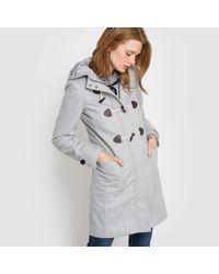 LA REDOUTE - Gray Duffle-coat Long À Capuche - Lyst