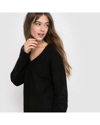 LA REDOUTE - Black Long-sleeved Loose Fit Jumper/sweater - Lyst