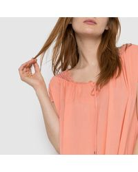 """Vila - Red """"vinist Dress"""" Short-sleeved Dress - Lyst"""