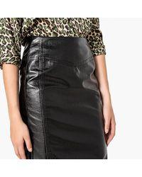 LA REDOUTE - Black Vinyl Pencil Skirt - Lyst