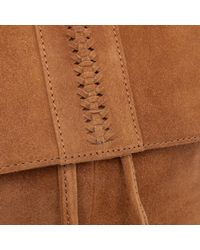 LA REDOUTE - Brown Suede Backpack - Lyst