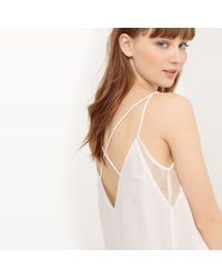 Pepe Jeans | White Lace Camisole With Shoestring Straps | Lyst
