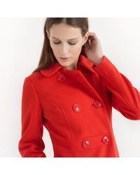 LA REDOUTE - Red Sixties Peter Pan Collar Coat - Lyst