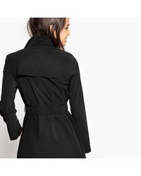 LA REDOUTE - Black Draping Trench Coat - Lyst