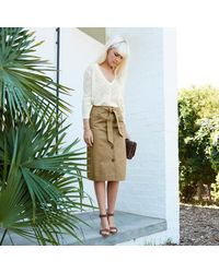 LA REDOUTE - Black Knee Length Buttoned Skirt - Lyst