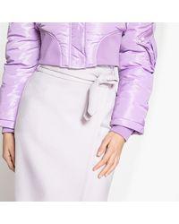 LA REDOUTE - Purple Midi Wrapover Skirt - Lyst