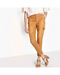 """LA REDOUTE - Multicolor Garment-dyed Slim Fit Combat Trousers, Length 26"""" - Lyst"""