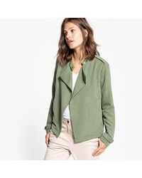 Vila | Green Straight Cut Jacket | Lyst
