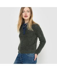 LA REDOUTE | Green Fluffy Jumper/sweater | Lyst