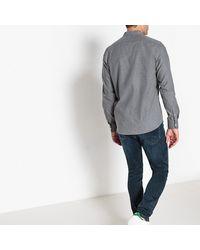 LA REDOUTE - Gray Mandarin Collar Shirt for Men - Lyst