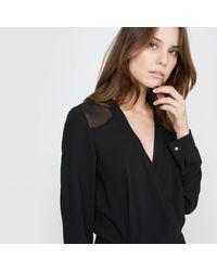 La Redoute - Black Slim Fit Jumpsuit With Cigarette Trousers - Lyst
