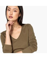 LA REDOUTE - Multicolor Basic Organic Cotton V-neck T-shirt - Lyst