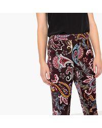 LA REDOUTE - Multicolor Paisley Print Cigarette Trousers - Lyst