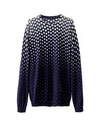 LA REDOUTE - Blue Polka Dot Print Jumper/sweater - Lyst