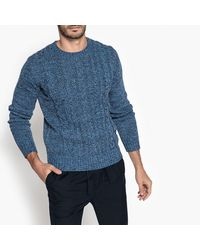 LA REDOUTE - Blue Chunky Knit Crew Neck Jumper/sweater for Men - Lyst