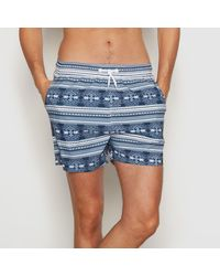 LA REDOUTE | Blue Short Met Etnische Print for Men | Lyst