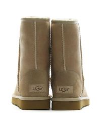 Ugg - Natural Classic Short Ii Sand Twinface Boots - Lyst