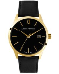 Larsson & Jennings - Multicolor Saxon Automatic Ai Black And Gold Mechanical Watch - Lyst