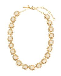 Lele Sadoughi - White Solstice Crystal Collar Necklace - Lyst