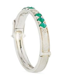 Jude Frances | Metallic Encore Sterling Silver Malachite/moonstone Bracelet | Lyst