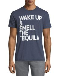 856e662e Lyst - Chaser Wake Up Tequila Crewneck Tee in Blue for Men