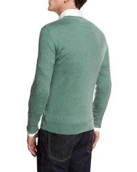 Neiman Marcus - Green Cashmere-silk V-neck Sweater for Men - Lyst