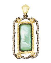 Armenta - Green Old World Quartz Triplet Enhancer W/ Champagne Diamonds - Lyst
