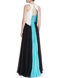 Prabal Gurung - Black Flyaway Embellished Bustier Gown - Lyst