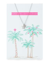 Lydell NYC - Metallic Star & Ball Necklace With Holiday Card - Lyst