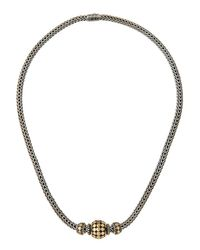 John Hardy | Multicolor Three-bead Dot Chain Necklace | Lyst