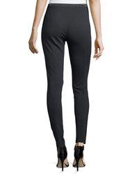 Lafayette 148 New York - Black Pintucked Skinny Pants - Lyst